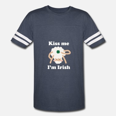 Irish Pun Kiss Me Im Irish Sheep Funny St Patricks Day Pun - Vintage Sport T-Shirt