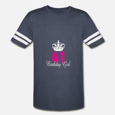 For The 41 Year Old Birthday Girl 41 Years Old - Vintage Sport T-Shirt