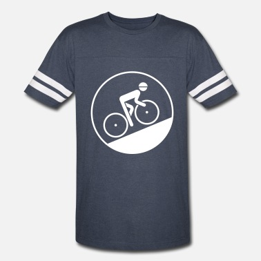Uphill Cyclist Bicyclist Biker (Racing Bicycle / Uphill) - Vintage Sport T-Shirt
