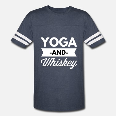 Whiskey And Yoga Yoga and Whiskey - Vintage Sport T-Shirt