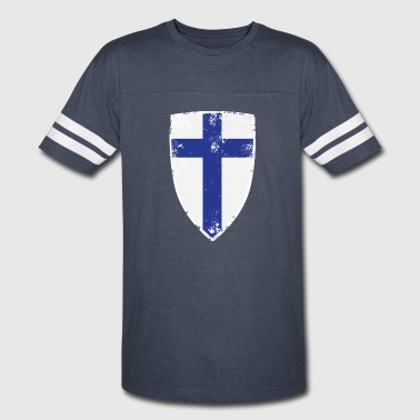 Flag of Finland - Vintage Sport T-Shirt