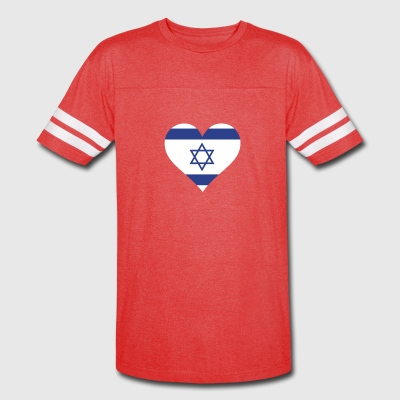 A Heart For Israel - Vintage Sport T-Shirt