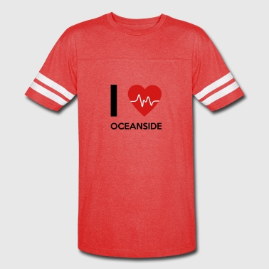 I Love Oceanside - Vintage Sport T-Shirt