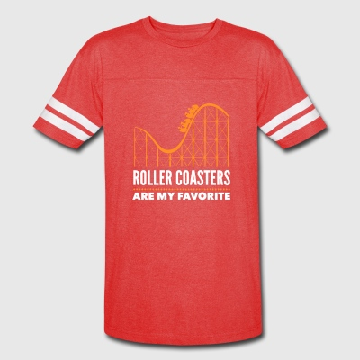 Roller Coasters Are My Favorite - Vintage Sport T-Shirt
