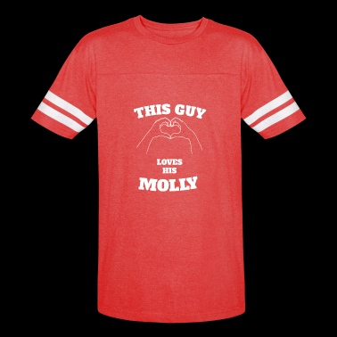 This Guy Loves His Molly Valentine Day Gift - Vintage Sport T-Shirt