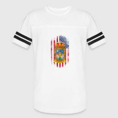 Zacatecas American Flag - Vintage Sport T-Shirt