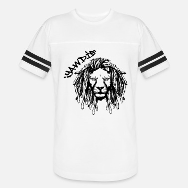 Dreadlock Lion Dread Lion (Black & White) - Vintage Sport T-Shirt