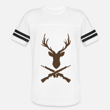 Guns Head Deer Head And Guns Funny - Vintage Sport T-Shirt