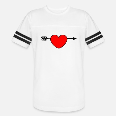 Arrow Through Heart Arrow through heart design gift - Unisex Vintage Sport T-Shirt