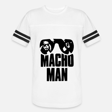 Macho Man Ran dy Savage Old School Adult Licensed - Vintage Sport T-Shirt