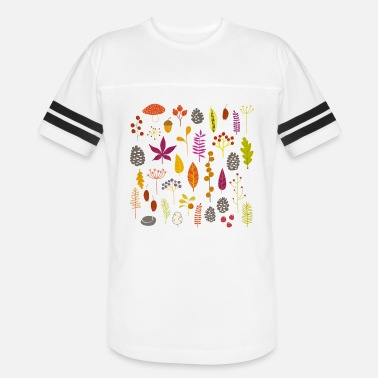 Autumn Leaves Art Design Autumn Nature Leaves and Berries - Vintage Sport T-Shirt