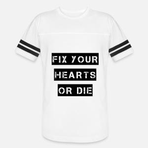 Fix Your Hearts Or Die Unisex Fleece Zip Hoodie Spreadshirt