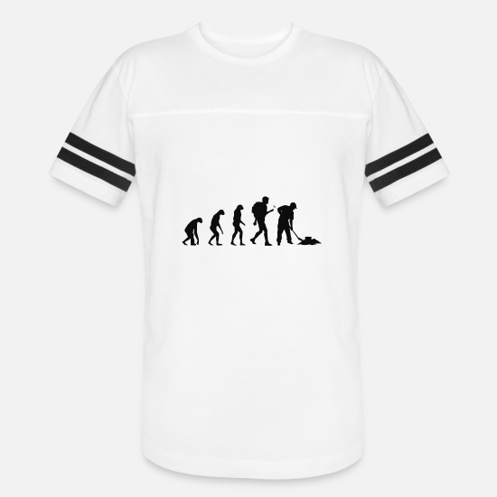 Geocaching T-Shirts - Geocaching - Evolution Geocaching - Unisex Vintage Sport T-Shirt white/black