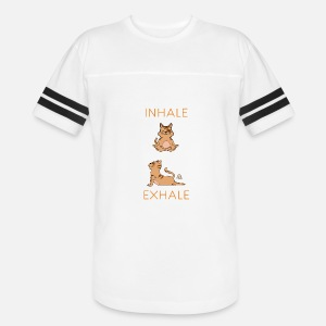 47c1f75dee Inhale Exhale Yoga Cat by bockaproductions   Spreadshirt