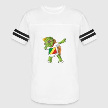 Congo (Brazzaville) Dabbing Turtle - Vintage Sport T-Shirt