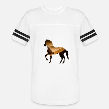 The Mountain Horse Horse Riding Rocky Mountains nature wild romantic - Vintage Sport T-Shirt