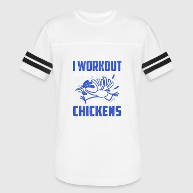 Chasing Chicken Funny I Workout Chase Chickens T-shirt - Vintage Sport T-Shirt