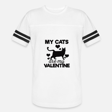 Cool My Cats are My Valentine Tshirt - Vintage Sport T-Shirt