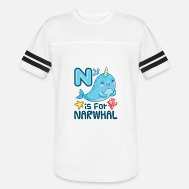 Narwhal N Is For Narwhal - Vintage Sport T-Shirt