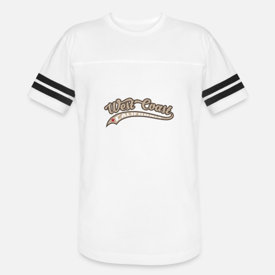 West Coast California T-Shirts - West Coast California - Unisex Vintage Sport T-Shirt white/black