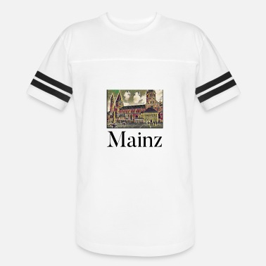 Mainz Mainz City Skyline Sights Silhouette Landmark - Vintage Sport T-Shirt