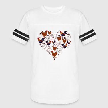 Chicken Heart Chicken Love Heart Shirt - Vintage Sport T-Shirt