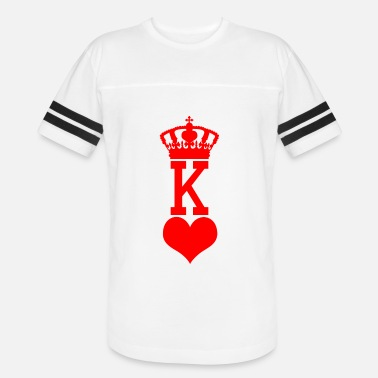 King Card King Of Hearts - Halloween Costume Poker - Vintage Sport T-Shirt