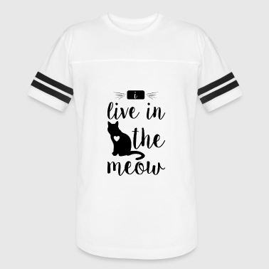i live in the meow - Vintage Sport T-Shirt
