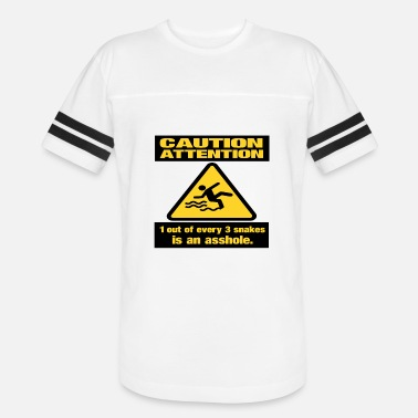 Funny Snake Caution Snakes - Unisex Vintage Sport T-Shirt