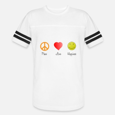 Peace Love Happiness Peace Love Happy - Vintage Sport T-Shirt