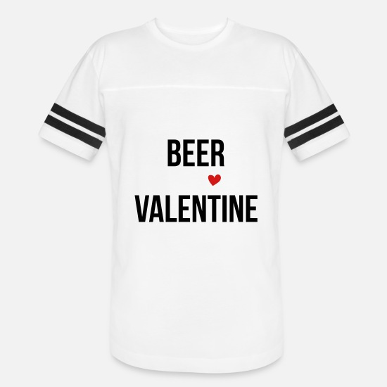 Love T-Shirts - Beer Will Be My Valentine - Unisex Vintage Sport T-Shirt white/black
