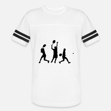 Grand Slam Wimbledon tennis ball court sports bat player spieler squash - Vintage Sport T-Shirt