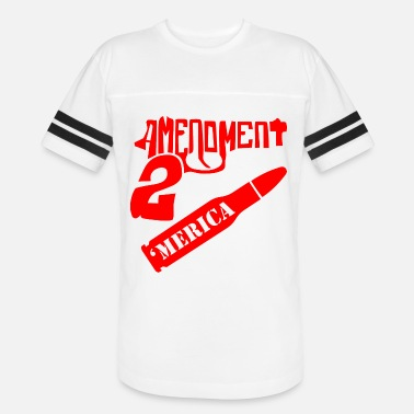 Amendment 2nd Amendment 'Merica ©WhiteTigerLLC.com - Unisex Vintage Sport T-Shirt