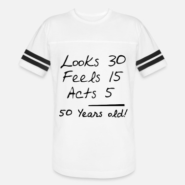 50s 50 years old 112.png - Unisex Vintage Sport T-Shirt