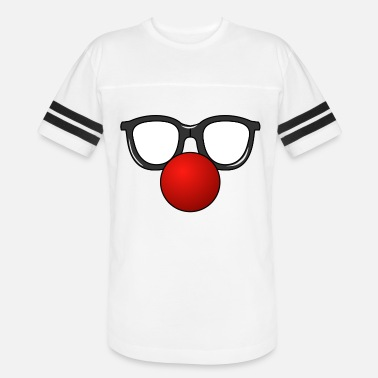 Red Nose clown mask - Unisex Vintage Sport T-Shirt