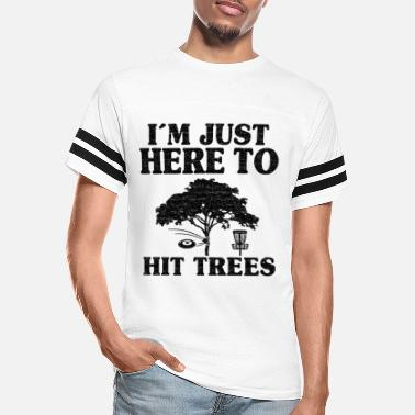 Frisbee I'm Just Here To Hit Trees Disc Golf Gift Funny - Unisex Vintage Sport T-Shirt