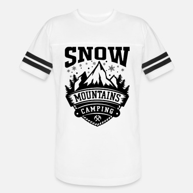 Flake Snow Mountains Camping bw - Unisex Vintage Sport T-Shirt