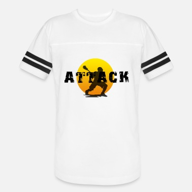 Word Attack Lacrosse Attack - Unisex Vintage Sport T-Shirt