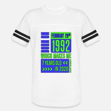 Feb 29 7 years old - Unisex Vintage Sport T-Shirt