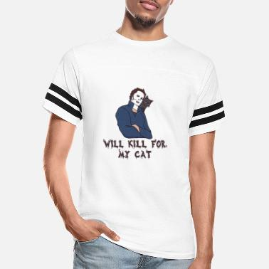 Michael Will Kill For My Cat Halloween - Unisex Vintage Sport T-Shirt