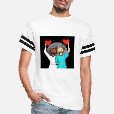 Vip Doctor Nurse And The Moon - Unisex Vintage Sport T-Shirt