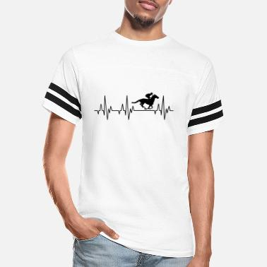 Horse Racing Heartbeat Horses Riding Harness Racing Equitation - Unisex Vintage Sport T-Shirt