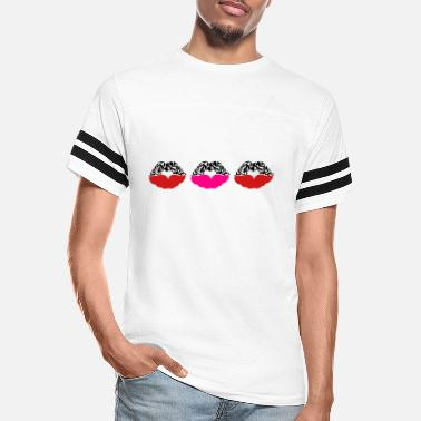 Deadly Sexy Vampire Luscious Red Lips Design For ♥ټXxSexy Tattooed Luscious Sensual Lips xXټ♥ - Unisex Vintage Sport T-Shirt