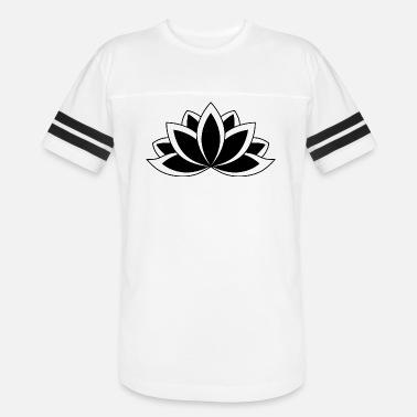 12fa33eef Black and White Buddhist Symbol Lotus flower Men s Premium T-Shirt ...