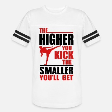 Cage 32_the higher you kick_2c - Unisex Vintage Sport T-Shirt