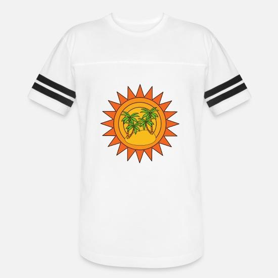 Summer Palm trees Unisex Vintage Sport T-Shirt | Spreadshirt