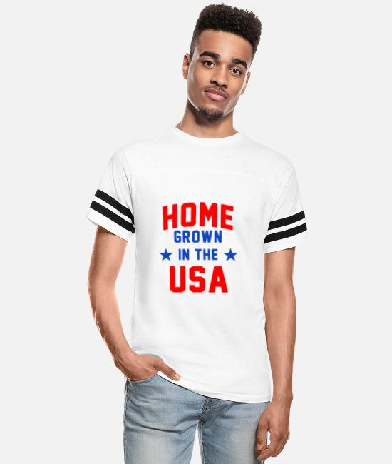 Specialty T-Shirts - Home Grown In The USA - Unisex Vintage Sport T-Shirt white/black