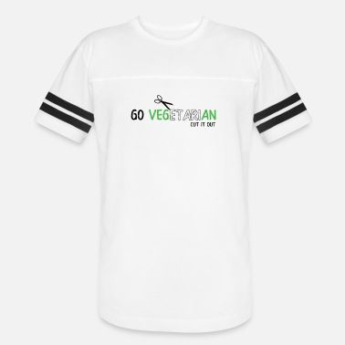 Going Out GO VEGETARIAN CUT IT OUT - Unisex Vintage Sport T-Shirt