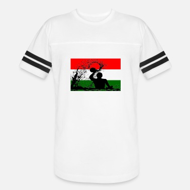 Hungary Hungary Water Polo Player Silhouette Flag Gift - Unisex Vintage Sport T-Shirt