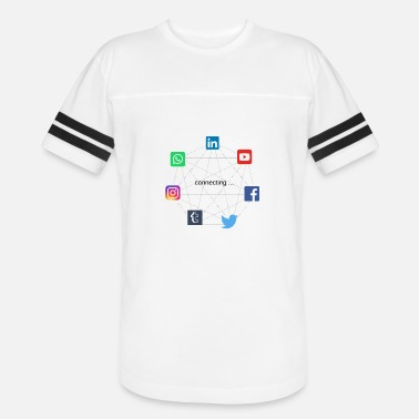 Social Network connecting social networks - Unisex Vintage Sport T-Shirt